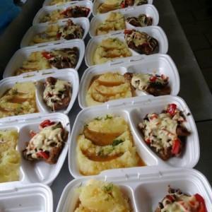 przygotowane dania dla firmy